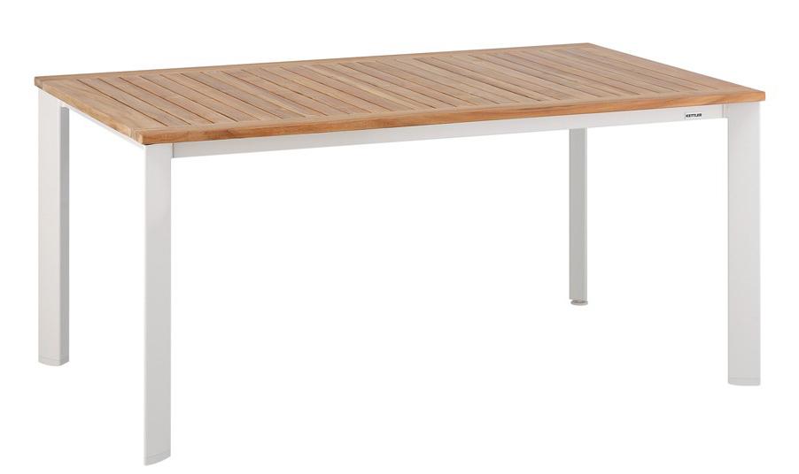 Стол Avance (160x95) KettlerДеревянная мебель<br>Размер: 160х73,5х95<br><br>Материалы: Массив тика<br>Каркас: Алюминий<br>Полный размер: 160х73,5х95<br>Вес товара (кг): 25<br>Цвет: Белый<br>Изготовление и доставка: 3-5 дней<br>Условия доставки: Бесплатная по Москве до подъезда<br>Условие оплаты: Оплата наличными при получении товара<br>Производство: Германия<br>Производитель: Kettler