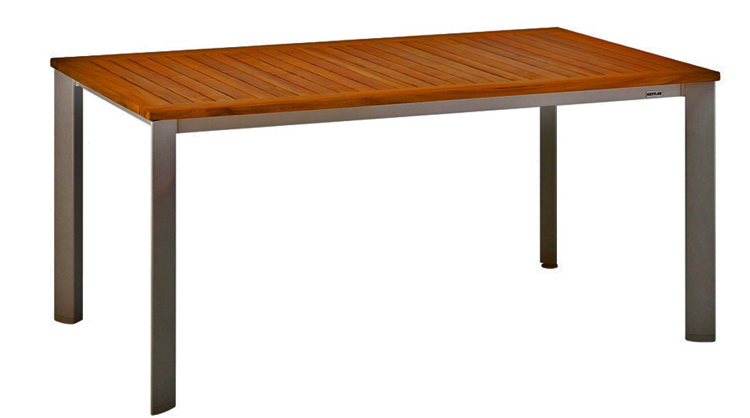 Стол Avance (160x95) KettlerДеревянная мебель<br>Размер: 160х73,5х95<br><br>Материалы: Массив тика<br>Каркас: Алюминиевый<br>Полный размер: 160х73,5х95<br>Вес товара (кг): 25<br>Цвет: Антрацит<br>Изготовление и доставка: 3-5 дней<br>Условия доставки: Бесплатная по Москве до подъезда<br>Условие оплаты: Оплата наличными при получении товара<br>Производство: Германия<br>Производитель: Kettler