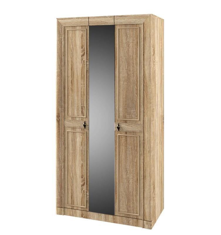 Шкаф для платья и белья 3-х дверный №104 МДК 4.12 Корвет