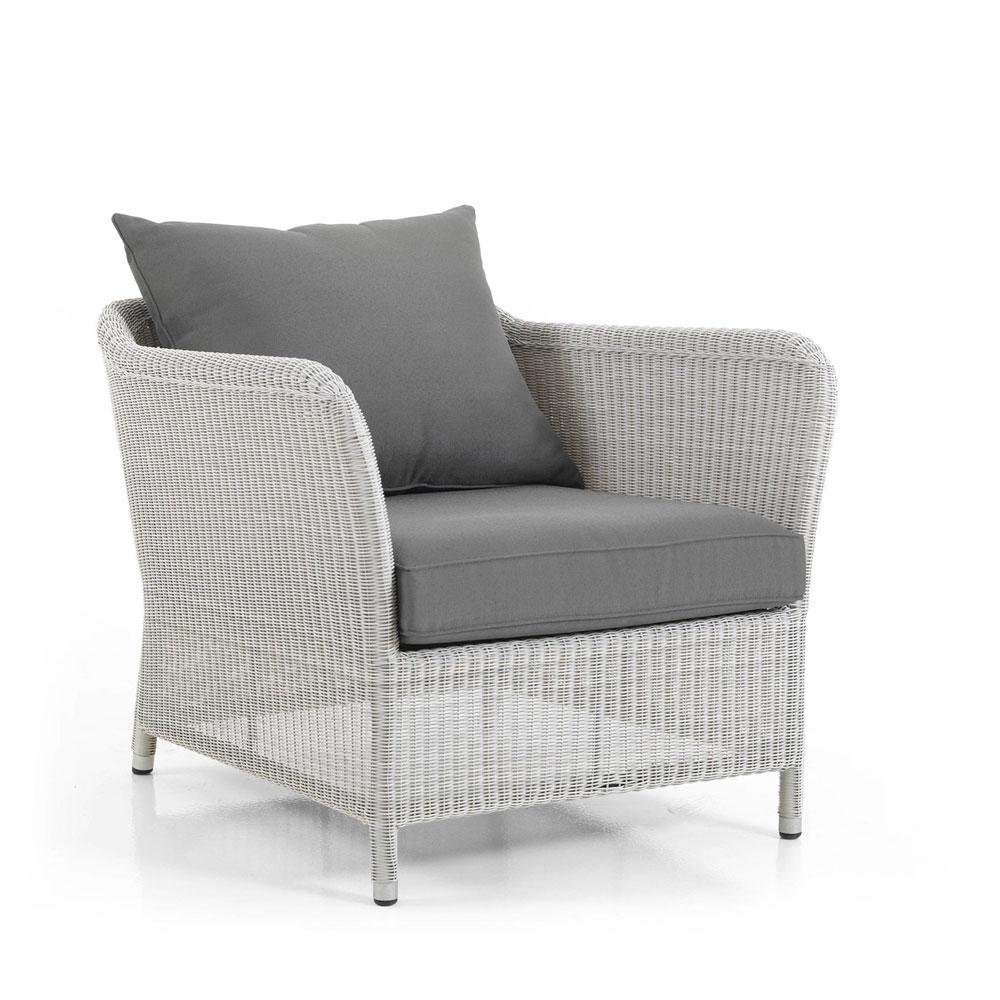 Плетеное кресло LoriaПлетеная мебель из искусственного ротанга<br>Размер: 74х85 В63<br><br>Артикул: 10621-54-70<br>Материалы: Искусственный ротанг<br>Каркас: Алюминиевый<br>Полный размер: 74х85 В63<br>Наполнитель: ППУ высокой плотности (Пенополиуретан)<br>Комплектация: Подушки<br>Цвет: Ротанг-белый, Ткань-серая<br>Изготовление и доставка: 2-3 дня<br>Условия доставки: Бесплатная по Москве до подъезда<br>Условие оплаты: Оплата наличными при получении товара<br>Гарантия: 12 месяцев<br>Производство: Швеция<br>Производитель: Brafab