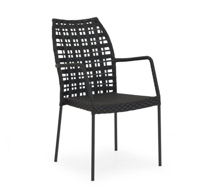 Кресло из алюминия SesamМеталлическая мебель<br>Размер: 45x43x44,5 В91<br><br>Артикул: 1064-8<br>Материалы: Алюминий, искусственный ротанг<br>Полный размер: 45x43x44,5 В91<br>Цвет: Алюминий-черный, Ротанг-черный<br>Изготовление и доставка: 2-3 дня<br>Условия доставки: Бесплатная по Москве до подъезда<br>Условие оплаты: Оплата наличными при получении товара<br>Гарантия: 12 месяцев<br>Производство: Швеция<br>Производитель: Brafab