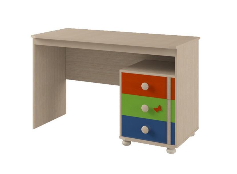 Письменный стол №119 МДК 4.13Компьютерные столы<br>Размер: 740х550х1200<br><br>Материалы: ЛДСП, кромка ПВХ<br>Каркас: Деревянный<br>Полный размер (ДхГхВ): 1200х550х740<br>Цвет: Дуб Белфорд/Оранж,Синий,Эвкалипт<br>Примечание: Доставляется в разобранном виде<br>Изготовление и доставка: 10-14 дней<br>Условия доставки: Бесплатная по Москве до подъезда<br>Условие оплаты: Оплата наличными при получении товара<br>Доставка по МО (за пределами МКАД): 30 руб./км<br>Доставка в пределах ТТК: Доставка в центр Москвы осуществляется ночью, с 22.00 до 6.00 утра<br>Подъем на грузовом лифте: 300 руб.<br>Подъем без лифта: 150 руб./этаж, включая первый<br>Сборка: 800 руб.<br>Гарантия: 12 месяцев<br>Производство: Россия<br>Производитель: Корвет