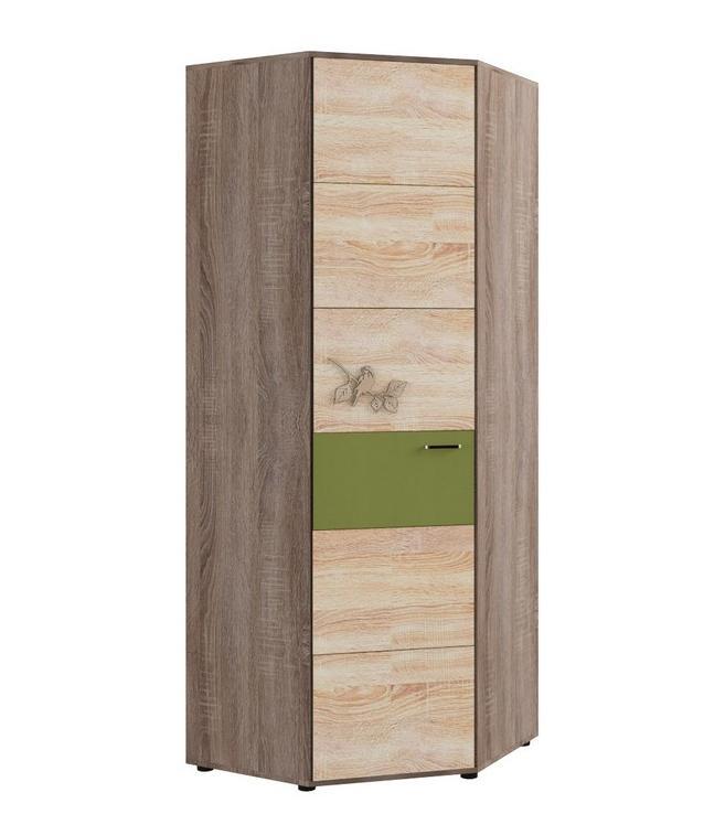 Шкаф угловой №128 МДК 4.14Детские шкафы<br>Размер: 782х782х2070<br><br>Материалы: ЛДСП, кромка ПВХ<br>Каркас: Деревянный<br>Полный размер: 782х782х2070<br>Наполнение шкафа: Платье+Белье<br>Цвет: Ель/Ель темная/Оливковый<br>Примечание: Доставляется в разобранном виде<br>Изготовление и доставка: 10-14 дней<br>Условия доставки: Бесплатная по Москве до подъезда<br>Условие оплаты: Оплата наличными при получении товара<br>Подъем на грузовом лифте: 500 руб<br>Подъем без лифта: 250 руб./этаж включая первый<br>Сборка: 10% от стоимости изделия, но не менее 1,000 руб.<br>Гарантия: 12 месяцев<br>Производство: Россия<br>Производитель: Корвет