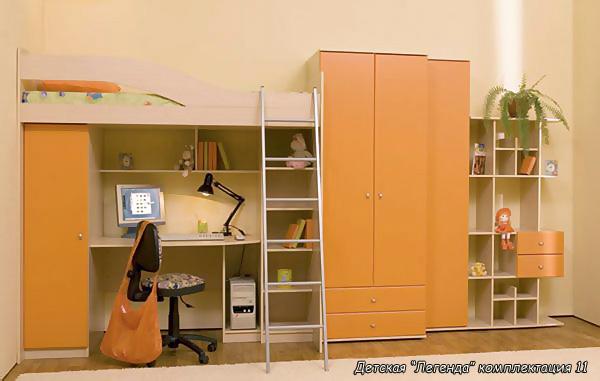 Детская комната Легенда комплектация 11Детские комнаты<br>Размер: 3946х2100х880<br><br>Артикул: Детская комната Легенда комплектация 11<br>Материалы: ЛДСП, кромка ПВХ, рамка МДФ<br>Полный размер (ДхВхГ): 3946х2100х880<br>Комплектация: Матрас входит в стоимость<br>Примечание: Доставляется в разобранном виде<br>Изготовление и доставка: 8-10 дней<br>Условия доставки: Бесплатная по Москве до подъезда<br>Условие оплаты: Оплата наличными при получении товара<br>Доставка по МО (за пределами МКАД): 30 руб./км<br>Доставка в пределах ТТК: Доставка в центр Москвы осуществляется ночью, с 22.00 до 6.00 утра<br>Подъем на грузовом лифте: 800 руб.<br>Подъем без лифта: 400 руб./этаж (включая первый)<br>Сборка: 10% от стоимости изделия, но не менее 1,000 руб.<br>Гарантия: 12 месяцев<br>Производство: Россия<br>Производитель: Mebelus
