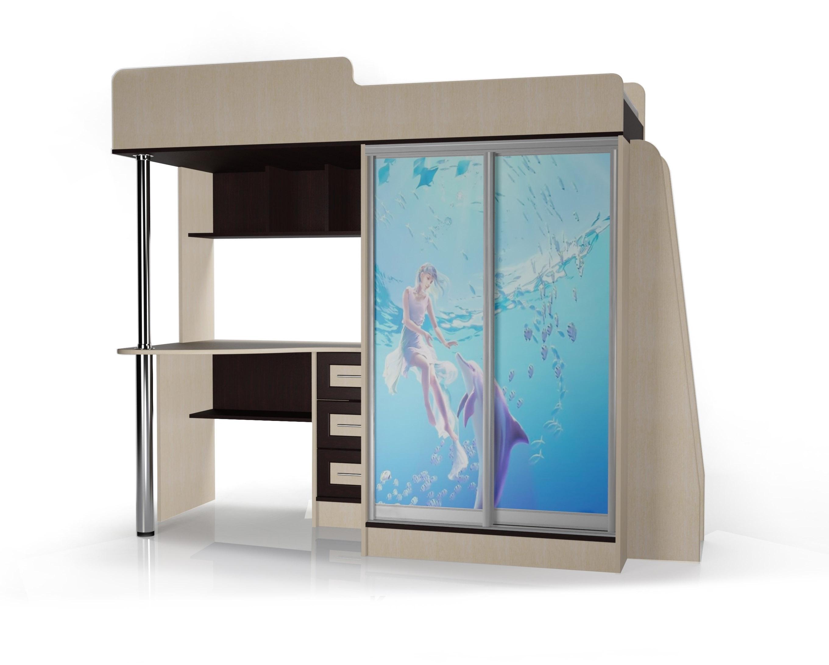 2-х ярусная кровать Мебелайн-4 библиотека мебелайн 4