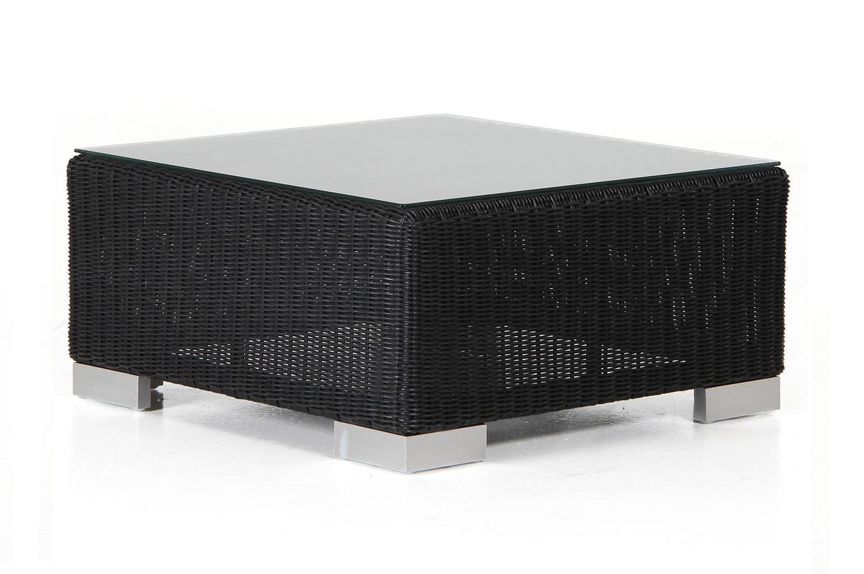 Плетеный столик-пуф Forum blackПлетеная мебель из искусственного ротанга<br>Размер: 61х68 В30<br><br>Материалы: Искусственный ротанг, высокопрочное стекло<br>Каркас: Алюминиевый<br>Полный размер: 61х68 В30<br>Наполнитель: ППУ высокой плотности (Пенополиуретан)<br>Комплектация: Подушка<br>Цвет: Черный<br>Изготовление и доставка: 2-3 дня<br>Условия доставки: Бесплатная по Москве до подъезда<br>Условие оплаты: Оплата наличными при получении товара<br>Гарантия: 12 месяцев<br>Производство: Швеция<br>Производитель: Brafab