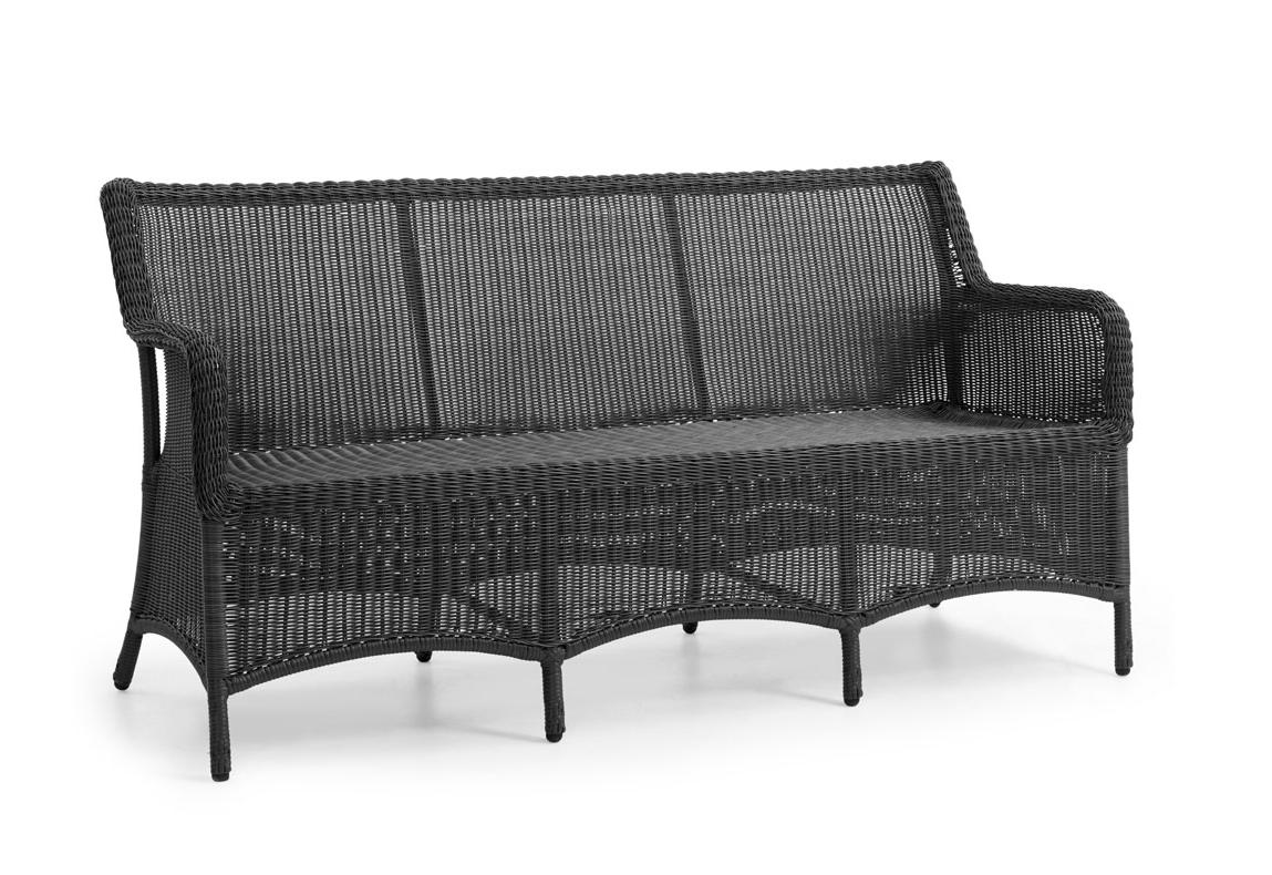 Плетеный диван Lilly grey