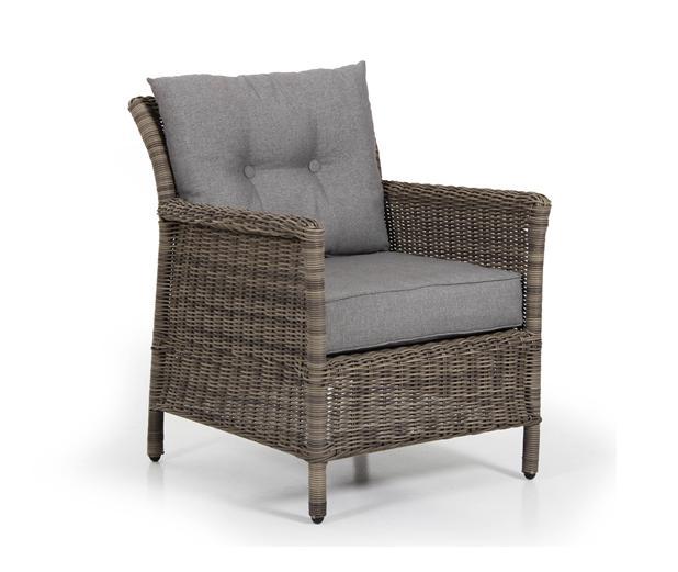Плетеное кресло HollandПлетеная мебель из искусственного ротанга<br>Размер: 82,5х71,5 В95<br><br>Артикул: 2271-67-76<br>Материалы: Искусственный ротанг<br>Каркас: Алюминиевый<br>Полный размер: 82,5х71,5 В95<br>Наполнитель: ППУ высокой плотности (пенополиуретан)<br>Комплектация: Подушки<br>Цвет: Ротанг-коричневый, Ткань-серая<br>Изготовление и доставка: 2-3 дня<br>Условия доставки: Бесплатная по Москве до подъезда<br>Условие оплаты: Оплата наличными при получении товара<br>Производство: Швеция<br>Производитель: Brafab