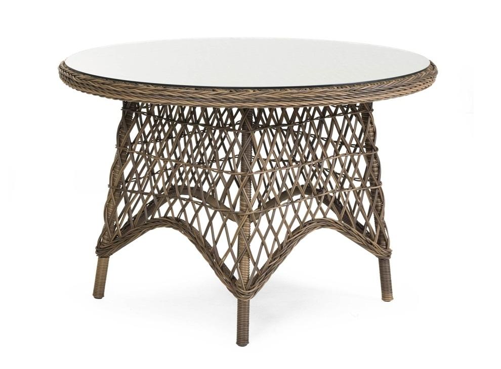 Плетеный круглый стол Beatrice-1 brown brafab callas
