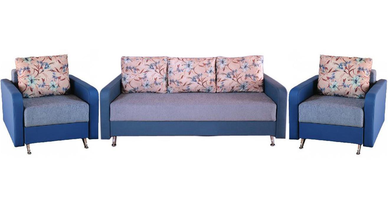 Комплект мягкой мебели Селена 3+1+1Комплекты мягкой мебели<br>Комплект мягкой мебели Селена 3+1+1 прекрасно подойдет в классический современный интерьер. Набор состоит из дивана и двух кресел с механизмом трансформации еврокнижка, наполнителем является блок двухконусных пружин, высокоплотный ППУ, шариковое волокно и холлофайбер. Под сиденьем в диване есть просторный бельевой отсек.<br>Варианты:<br>Диван еврокнижка Селена<br>Кресло-кровать Селена<br><br>Механизм: Еврокнижка<br>Каркас: Древесина хвойных пород, мебельная фанера<br>Полный размер (ШхДхВ): 215х103х95<br>Спальное место: 145х195<br>Размер кресла: 95х105 В95<br>Спальное место кресла: 196х70<br>Высота сиденья (см): 46<br>Наполнитель: Блок двухконусных пружин на противошумовой подкладке, ППУ, шариковое полиэфирное волокно, холлофайбер<br>Комплектация: Ящик для белья из ЛДСП, ЛДВП, подушки<br>Примечание: Стоимость указана по минимальной категории ткани<br>Изготовление и доставка: 10-17 дней<br>Условия доставки: Бесплатная по Москве до подъезда<br>Условие оплаты: Оплата наличными при получении товара<br>Доставка по МО (за пределами МКАД): 30 руб./км<br>Доставка в пределах ТТК: Доставка в центр Москвы осуществляется ночью, с 22.00 до 6.00 утра<br>Подъем на грузовом лифте: 1100 руб.<br>Подъем без лифта: 550 руб./этаж<br>Сборка: 600 руб.<br>Гарантия: 12 месяцев<br>Производство: Россия<br>Производитель: Фокстрот