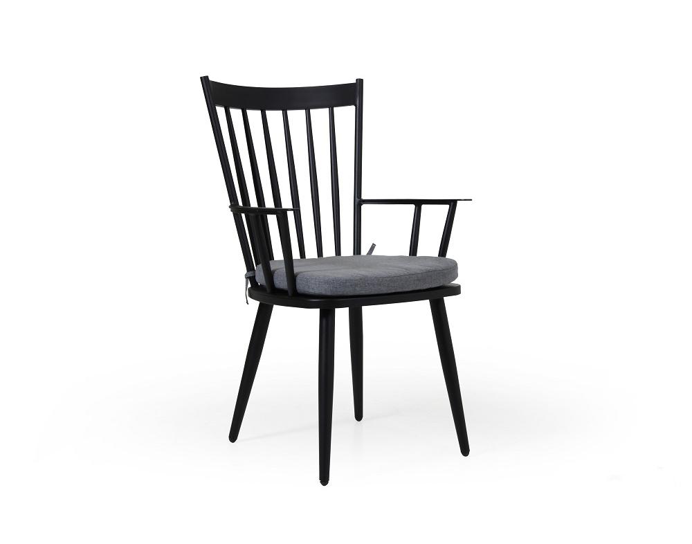 Кресло черное Alvena