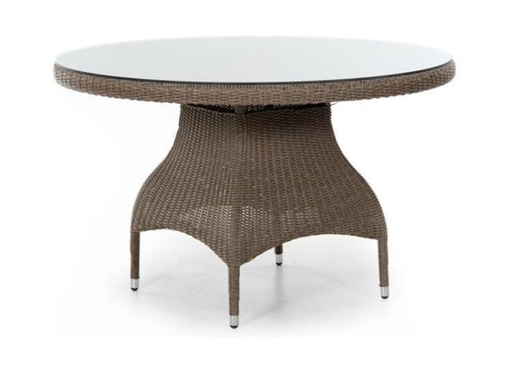 Плетеный стол Ninja-4Плетеная мебель из искусственного ротанга<br>Размер: &amp;#216; 120 В74<br><br>Артикул: 35671<br>Материалы: Искусственный ротанг, высококачественное стекло<br>Каркас: Алюминиевый<br>Полный размер: &amp;#216; 120 В74<br>Цвет: Natur, black, grey<br>Изготовление и доставка: 2-3 дня<br>Условия доставки: Бесплатная по Москве до подъезда<br>Условие оплаты: Оплата наличными при получении товара<br>Гарантия: 12 месяцев<br>Производство: Швеция<br>Производитель: Brafab