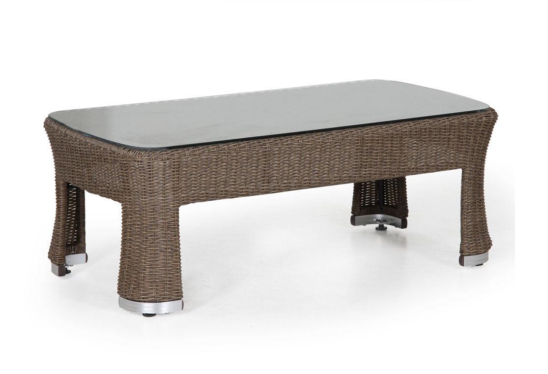 Плетеный стол INDRAПлетеная мебель из искусственного ротанга<br>Размер: 120х60 В46<br><br>Артикул: 360655<br>Материал фасада: Искусственный ротанг, высокопрочное стекло<br>Каркас: Алюминиевый<br>Полный размер: 120х60 В46<br>Цвет: Натуральный<br>Изготовление и доставка: 2-3 дня<br>Условия доставки: Бесплатная по Москве до подъезда<br>Условие оплаты: Оплата наличными при получении товара<br>Гарантия: 12 месяцев<br>Производство: Швеция<br>Производитель: Brafab
