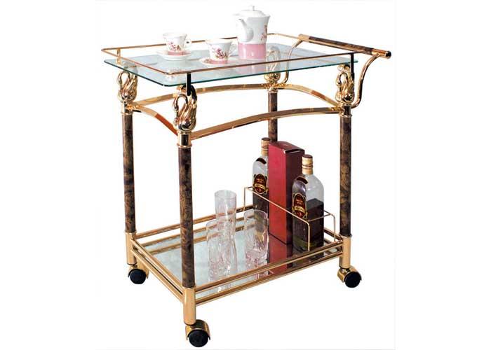 Стол сервировочный 4042Обеденные столы<br>Размер: 76х41 В77<br><br>Каркас: Металлический<br>Полный размер: 76х41 В77<br>Вес товара (кг): 13,4<br>Комплектация: прозрачное термостойкое стекло 5мм с 5мм зеркальной добавкой, 4 колесика<br>Изготовление и доставка: 2-3 дня<br>Условия доставки: Бесплатная по Москве до подъезда<br>Условие оплаты: Оплата наличными при получении товара<br>Подъем на лифте: 300 руб.<br>Гарантия: 12 месяцев<br>Производство: Китай