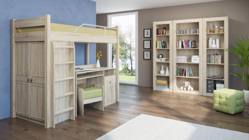 Молодежная модульная система МДК 4.12 Комплектация №5 детская комната мдк 4 13 комплектация 2