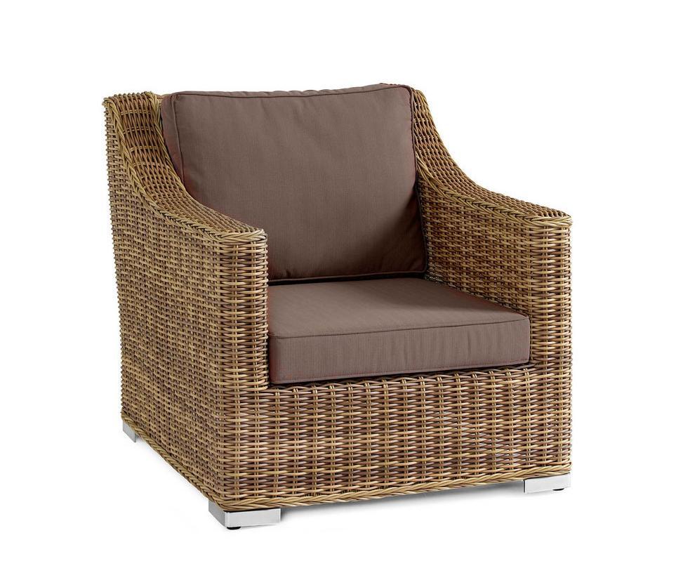 Плетеное кресло RoxinaПлетеная мебель из искусственного ротанга<br>Размер: 83х97 В82<br><br>Артикул: 5511-6<br>Материалы: Искусственный ротанг<br>Каркас: Алюминиевый<br>Полный размер: 83х97 В82<br>Наполнитель: ППУ высокой плотности (Пенополиуретан)<br>Комплектация: Подушки<br>Цвет: Ротанг-натуральный (цвет), Ткань- коричневая<br>Изготовление и доставка: 2-3 дня<br>Условия доставки: Бесплатная по Москве до подъезда<br>Условие оплаты: Оплата наличными при получении товара<br>Гарантия: 12 месяцев<br>Производство: Швеция<br>Производитель: Brafab