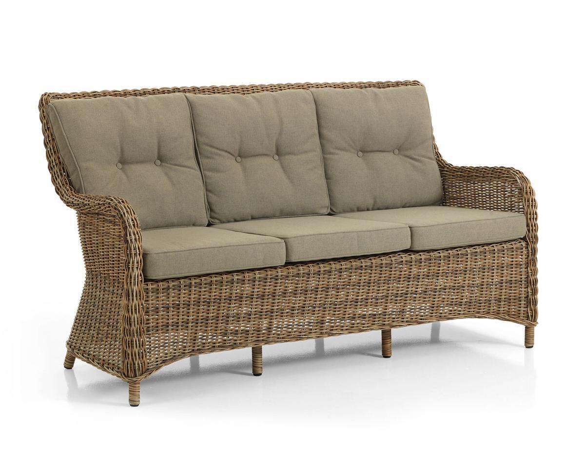 Плетеный диван MODESTOПлетеная мебель из искусственного ротанга<br>Размер: 162х83 В93<br><br>Артикул: 5523-62-23<br>Материалы: Искусственный ротанг<br>Каркас: Алюминиевый<br>Полный размер: 162х83 В93<br>Наполнитель: ППУ высокой плотности (Пенополиуретан)<br>Комплектация: Подушки<br>Цвет: Ротанг-коричневый, Ткань-бежевая<br>Изготовление и доставка: 2-3 дня<br>Условия доставки: Бесплатная по Москве до подъезда<br>Условие оплаты: Оплата наличными при получении товара<br>Производство: Швеция<br>Производитель: Brafab