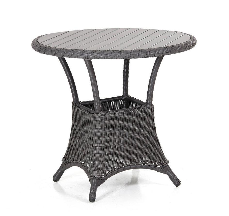 Плетеный стол Magda-2 greyПлетеная мебель из искусственного ротанга<br>Размер: &amp;#216;80<br><br>Артикул: 6808-7-7<br>Материалы: Искусственный ротанг, столешница-пластик nonwood<br>Каркас: Алюминиевый<br>Полный размер: &amp;#216;80<br>Цвет: Серый<br>Изготовление и доставка: 2-3 дня<br>Условия доставки: Бесплатная по Москве до подъезда<br>Условие оплаты: Оплата наличными при получении товара<br>Гарантия: 12 месяцев<br>Производство: Швеция<br>Производитель: Brafab