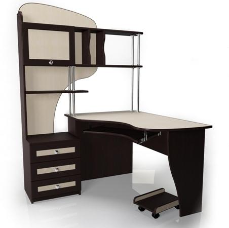 Компьютерный стол Мебелайн-15Компьютерные столы<br>Размер: 1240/1220 В1780<br><br>Материалы: ЛДСП, кромка ПВХ, рамка МДФ<br>Полный размер (ДхГхВ): 1240/1220 В1780<br>Примечание: Доставляется в разобранном виде<br>Изготовление и доставка: 5-7 дней, дни доставок среда и суббота<br>Условия доставки: Бесплатная по Москве до подъезда<br>Условие оплаты: Оплата наличными при получении товара<br>Доставка по МО (за пределами МКАД): 30 руб./км<br>Доставка в пределах ТТК: Доставка в центр Москвы осуществляется ночью, с 22.00 до 6.00 утра<br>Подъем на лифте: 300 руб.<br>Подъем без лифта: 150 руб./этаж<br>Сборка: 10% от стоимости изделия, но не менее 1,000 руб.<br>Гарантия: 12 месяцев<br>Производство: Россия<br>Производитель: Мебелайн
