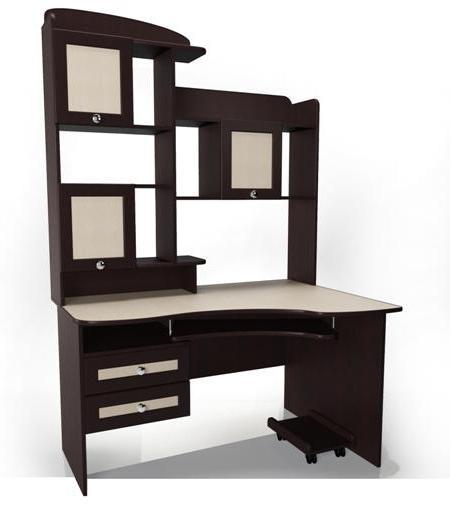 Компьютерный стол Мебелайн-18Компьютерные столы<br>Размер: 1300х900 В2015<br><br>Материалы: ЛДСП, кромка ПВХ, рамка МДФ<br>Полный размер (ДхГхВ): 1300х900х2015<br>Примечание: Доставляется в разобранном виде<br>Изготовление и доставка: 5-7 дней, дни доставок среда и суббота<br>Условия доставки: Бесплатная по Москве до подъезда<br>Условие оплаты: Оплата наличными при получении товара<br>Доставка по МО (за пределами МКАД): 30 руб./км<br>Доставка в пределах ТТК: Доставка в центр Москвы осуществляется ночью, с 22.00 до 6.00 утра<br>Подъем на лифте: 300 руб.<br>Подъем без лифта: 150 руб./этаж, включая первый<br>Сборка: 1000 руб.<br>Гарантия: 12 месяцев<br>Производство: Россия<br>Производитель: Мебелайн