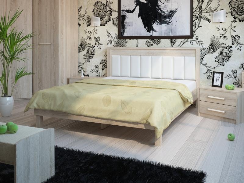Кровать №93.01 (серия МК 44) Спинка мягкая №11 Корвет