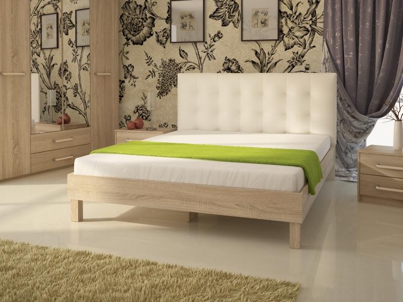 Кровать №93.01 (серия МК44) Спинка мягкая №1
