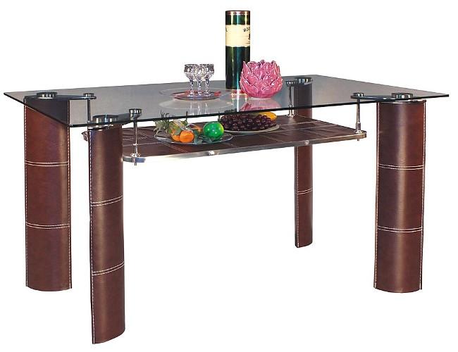 Стол обеденный А 2088Обеденные столы<br>Размер: 135х80 В75<br><br>Материалы: Стекло, метал, высококачественный кожзам<br>Полный размер: 135х80 В75<br>Вес товара (кг): 33,5<br>Примечание: Толщина столешницы 8 мм<br>Изготовление и доставка: 2-3 дня<br>Условия доставки: Бесплатная по Москве до подъезда<br>Условие оплаты: Оплата наличными при получении товара<br>Подъем на лифте: 300 руб.<br>Гарантия: 12 месяцев<br>Производство: Китай
