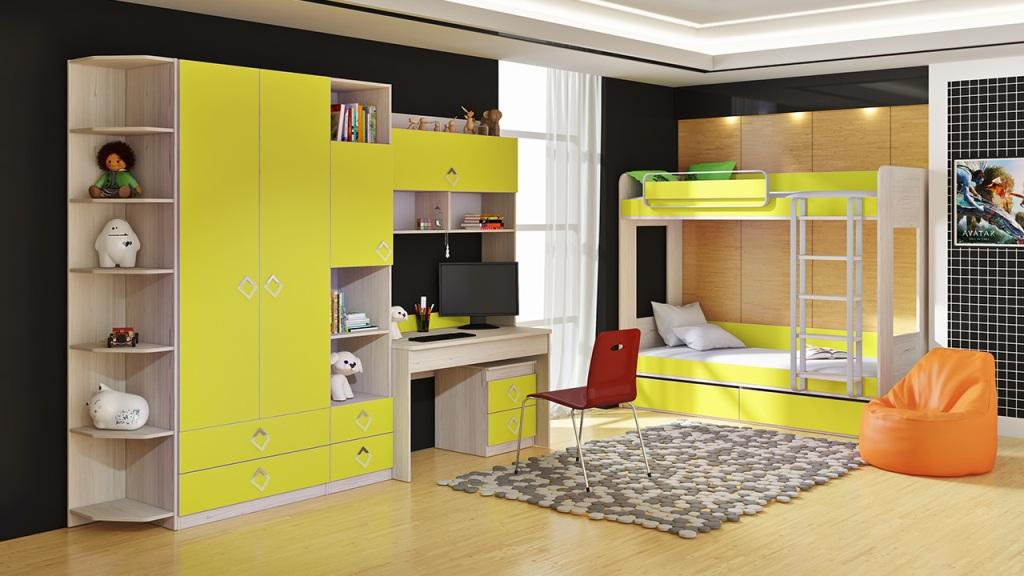 Фото Модульная детская комната Аватар №3 ГН-201.003