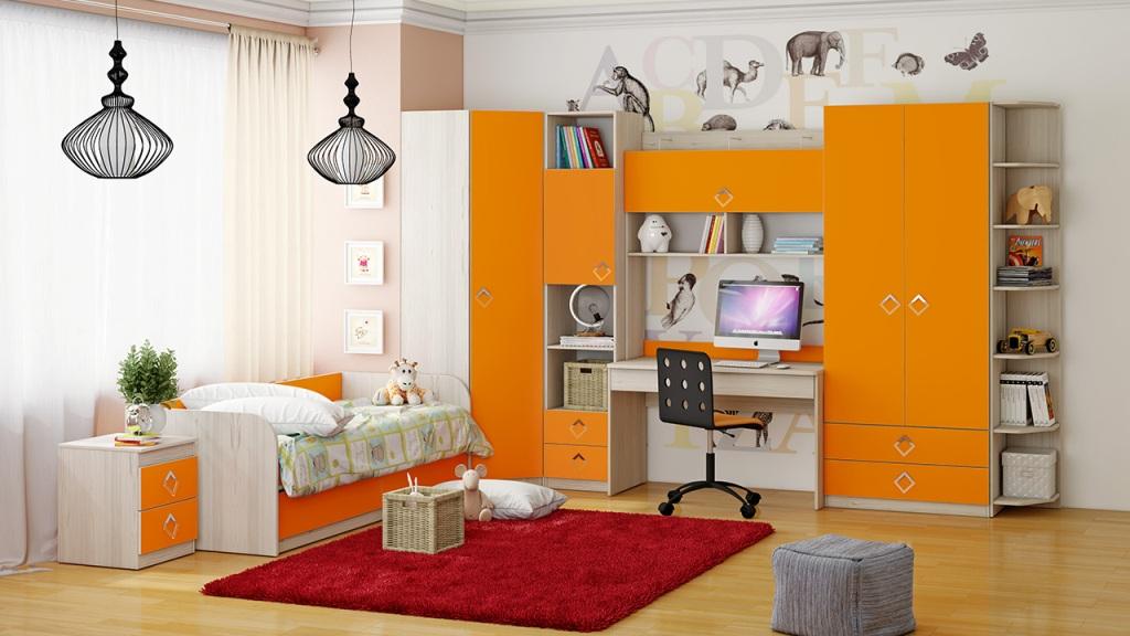 Модульная детская комната Аватар №4 ГН-201.004