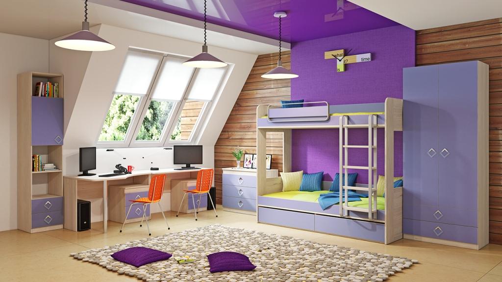 Фото Модульная детская комната Аватар №6 ГН-201.006