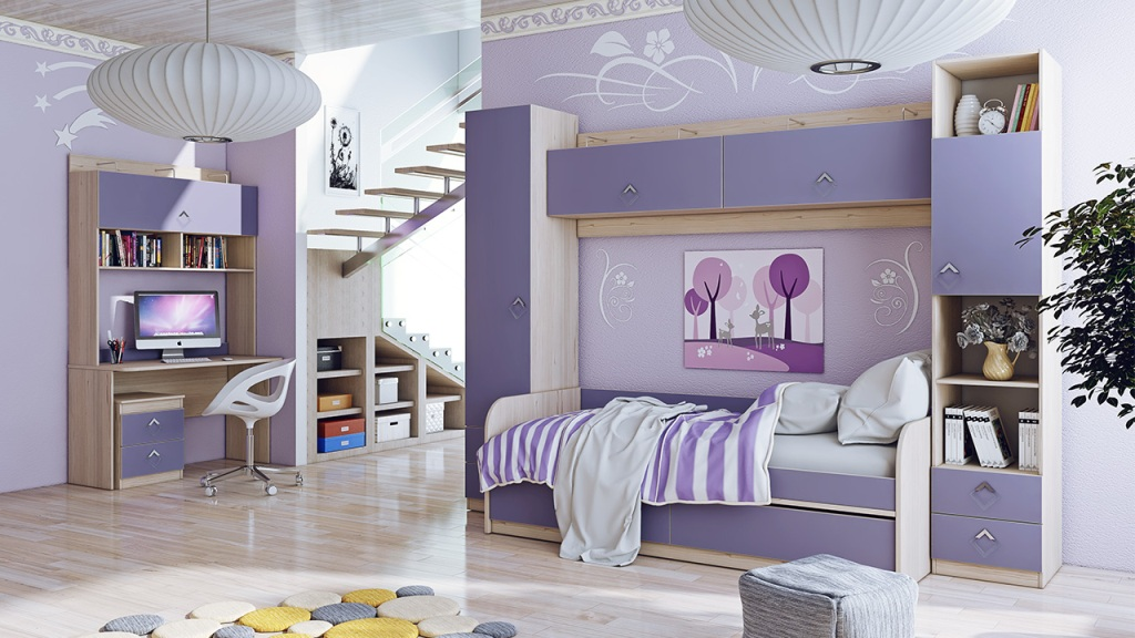 Модульная детская комната Аватар №1 ГН-201.001