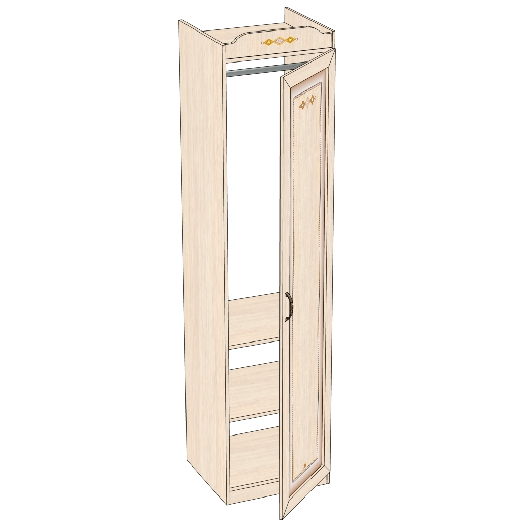 Любимый дом Шкаф одностворчатый Аврора ДМ 504010 шкаф одностворчатый с зерк 5 полок шатура кармен