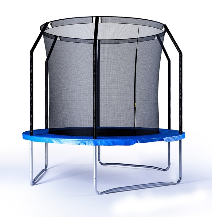 Батут детский с защитной сеткой 8 диаметр 2,4 м Perfetto sport батут sport elite r 1266 диаметр 125 см