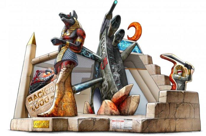 Коммерческий батут Приключения в Египте 1032 Happy Hop