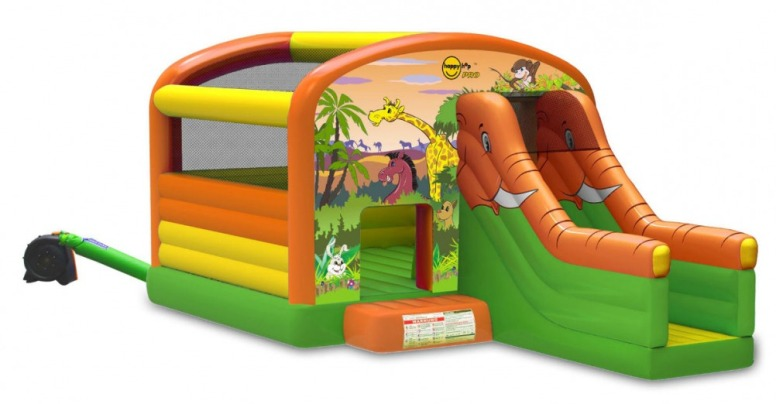 Коммерческий батут Сафари мега батут с горкой 1004N Happy Hop детский надувной батут с горкой happy hop дружба 9201g