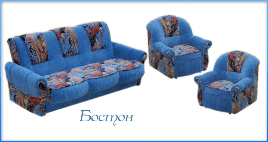 Комплект мягкой мебели Бостон 3+1+1
