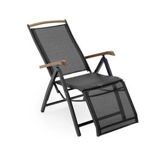 Шезлонг Andy relaxМеталлическая мебель<br>Размер: 46х46х45 В111<br><br>Артикул: 18490-8-8<br>Механизм: Складной<br>Материалы: Алюминий<br>Подлокотники: Массив тика<br>Полный размер: 46х46х45 В111<br>Цвет: Алюминий-черный, Текстилен-черный<br>Изготовление и доставка: 2-3 дня<br>Условия доставки: Бесплатная по Москве до подъезда<br>Условие оплаты: Оплата наличными при получении товара<br>Гарантия: 12 месяцев<br>Производство: Швеция<br>Производитель: Brafab