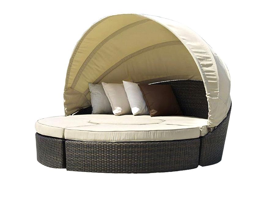 Плетеный модульный лежак Castello