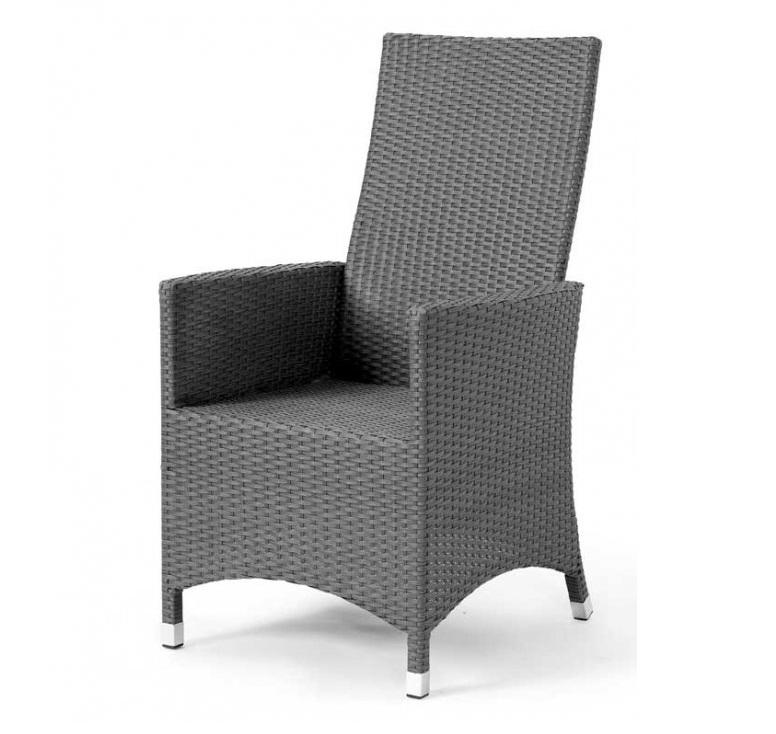 Плетеное кресло Cora-1 greyПлетеная мебель из искусственного ротанга<br>Размер: 50x48x43 длина 62 В109<br><br>Артикул: 14500-7<br>Материалы: Искусственный ротанг<br>Каркас: Алюминиевый<br>Полный размер: 50x48x43 длина 62 В109<br>Вес товара (кг): 6<br>Цвет: Серый<br>Примечание: Спинка регулируется<br>Изготовление и доставка: 2-3 дня<br>Условия доставки: Бесплатная по Москве до подъезда<br>Условие оплаты: Оплата наличными при получении товара<br>Производство: Швеция<br>Производитель: Brafab