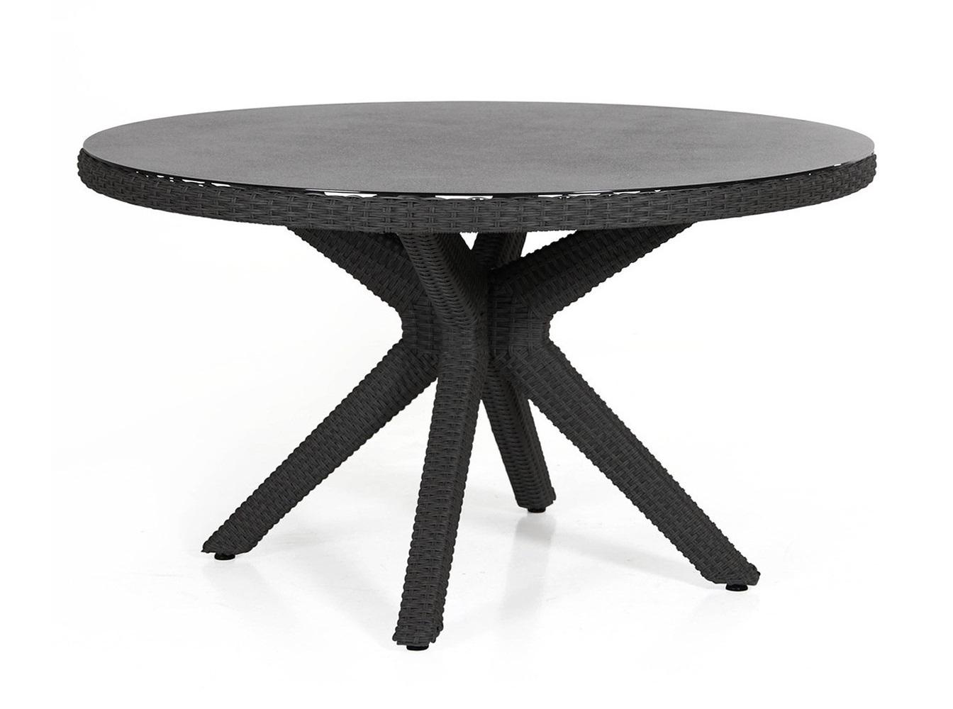 Плетеный круглый стол из ротанга Cora