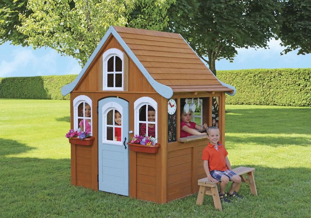 Цветочный Домик модель 2 деревянный Solowave Design