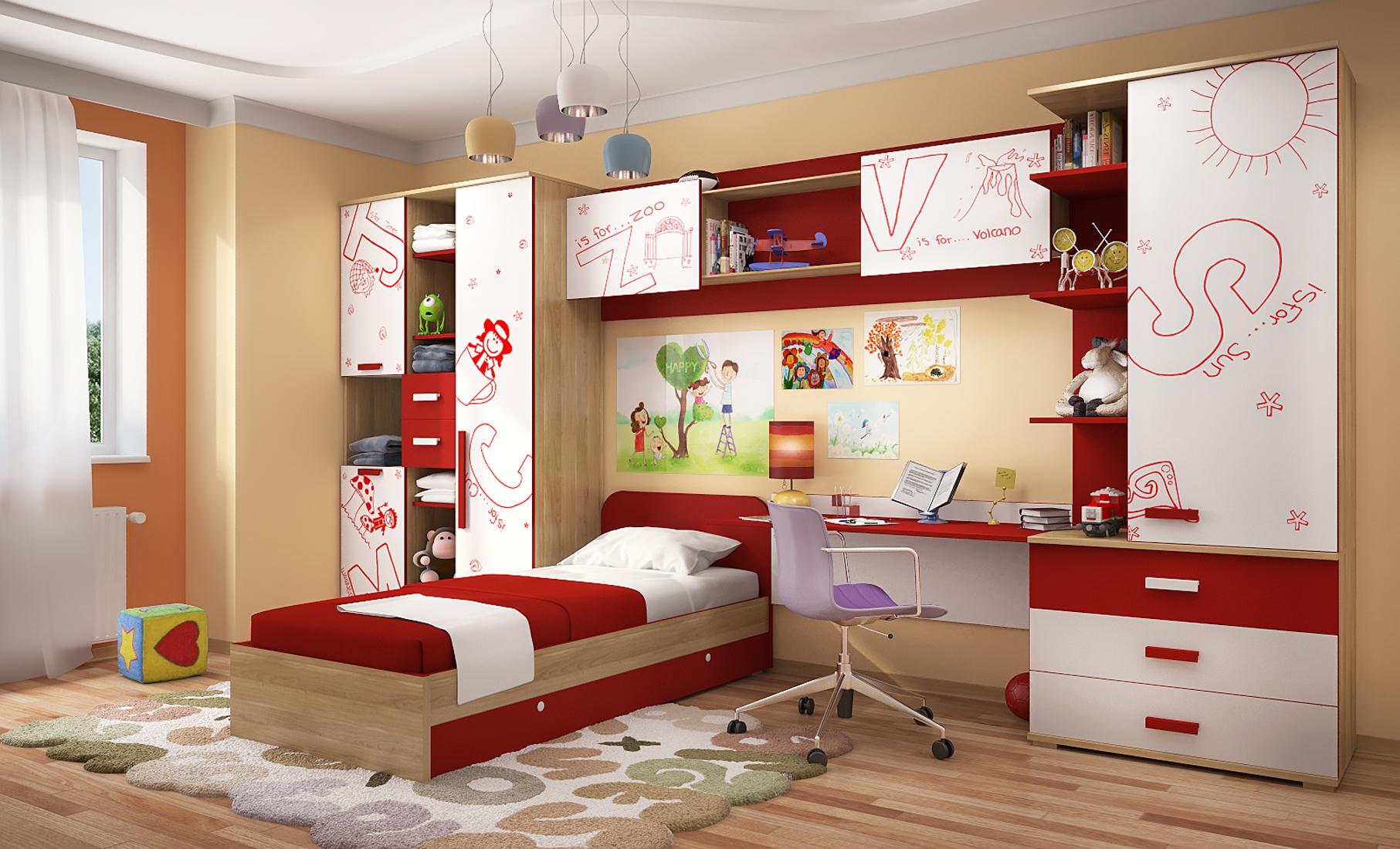 Любимый дом Детская комната Алфавит 2 любимый дом шкаф комбинированный берта 643 120 орех лугано