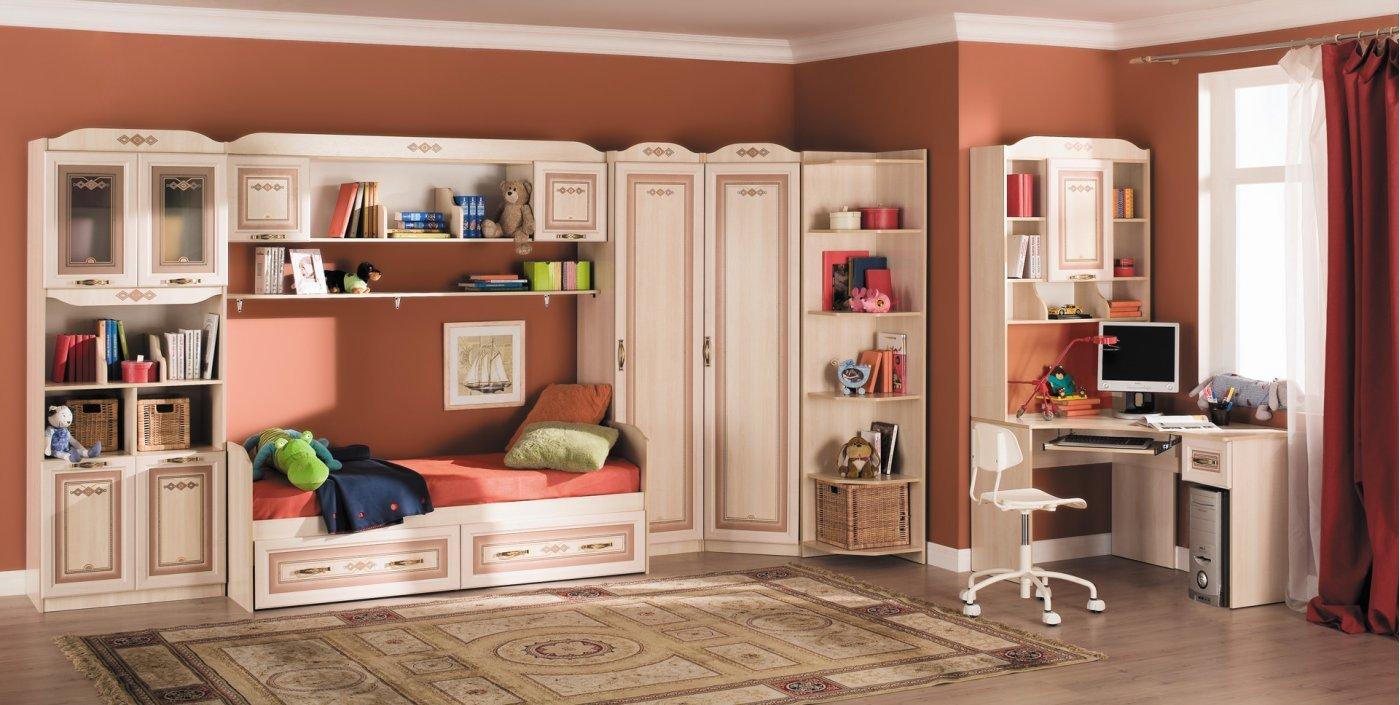 Любимый дом Детская комната Аврора №1 любимый дом шкаф комбинированный берта 643 120 орех лугано