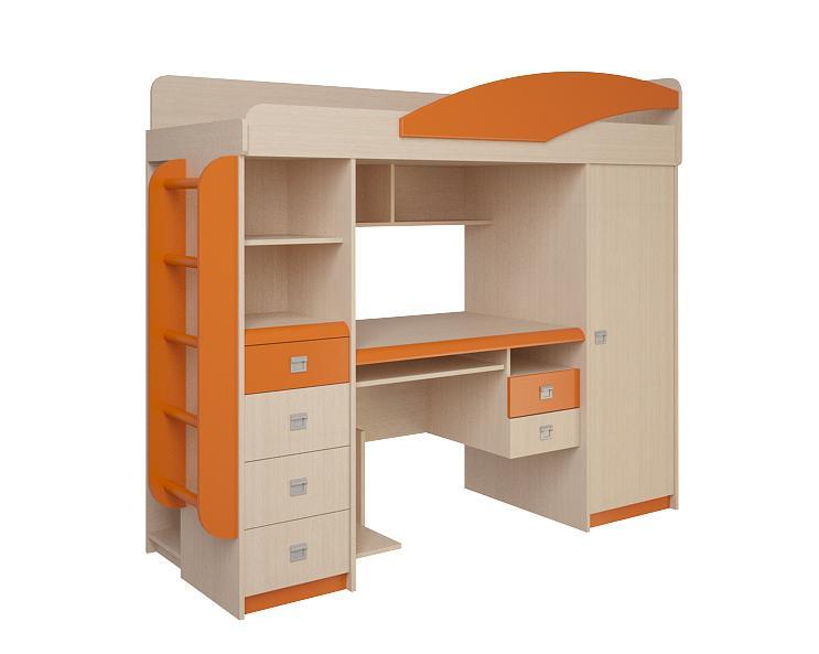 Детская комната №4.1.1 Л(П)Детские кровати<br>Размер: 760х2020 В1690<br><br>Материалы: ЛДСП, кромка ПВХ<br>Полный размер: 760х2020 В1690<br>Спальное место: 700х1860<br>Вес товара (кг): 210<br>Комплектация: Матрас в стоимость не входит<br>Цвет: Дуб белфорд/оранж,синий,эвкалипт<br>Примечание: Доставляется в разобранном виде<br>Важно: Комплектуется оранжевой ручкой-рамкой<br>Изготовление и доставка: 10-14 дней<br>Условия доставки: Бесплатная по Москве до подъезда<br>Условие оплаты: Оплата наличными при получении товара<br>Подъем на грузовом лифте: 700 руб<br>Подъем без лифта: 350 руб./этаж<br>Сборка: 10% от стоимости изделия<br>Гарантия: 12 месяцев<br>Производство: Россия<br>Производитель: Корвет