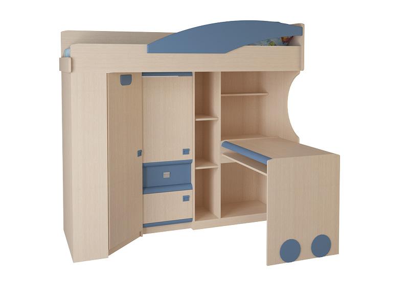 Детская комната №4.4.3 П(Л)Детские кровати<br>Размер: 1284х1900 В1760<br><br>Материалы: ЛДСП, кромка ПВХ<br>Полный размер: 1284х1900 В1760<br>Спальное место: 700х1860<br>Вес товара (кг): 210<br>Комплектация: Матрас в стоимость не входит<br>Цвет: Дуб белфорд/оранж,синий,эвкалипт<br>Примечание: Доставляется в разобранном виде<br>Изготовление и доставка: 10-14 дней<br>Условия доставки: Бесплатная по Москве до подъезда<br>Условие оплаты: Оплата наличными при получении товара<br>Подъем на грузовом лифте: 700 руб<br>Подъем без лифта: 350 руб./этаж<br>Сборка: 10% от стоимости изделия<br>Гарантия: 12 месяцев<br>Производство: Россия<br>Производитель: Корвет