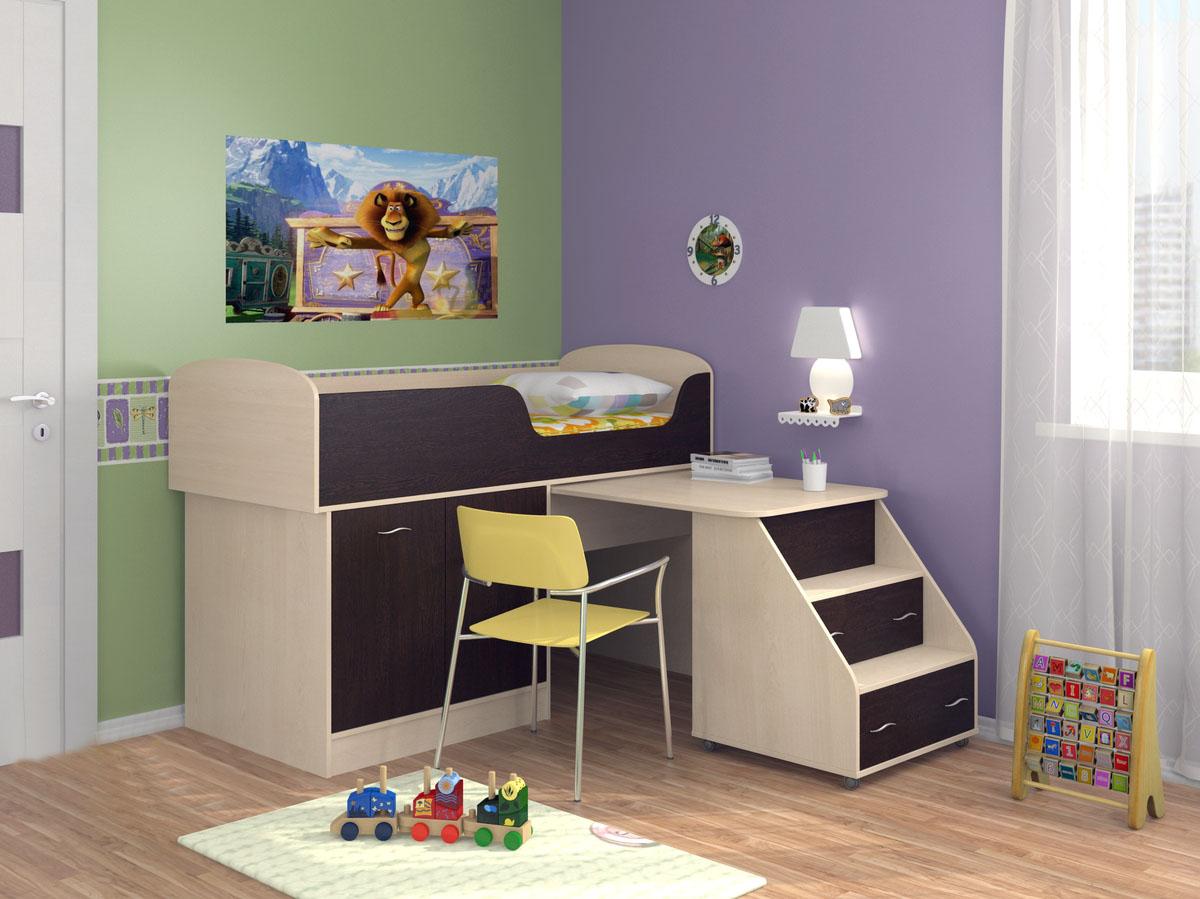 Детская комната Дюймовочка-13 обычная кроватка счастливый малыш 008 дюймовочка тик
