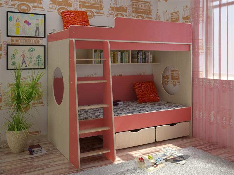 Детская комната Сказка-7 PinkДетские комнаты<br>Размер: 1950х850х1720 (сп. м. 800х1900)<br><br>Материалы: ЛДСП, кромка ПВХ<br>Полный размер: 1950х850х1720<br>Спальное место: 800х1900<br>Цвет: По фото: Дуб Молочный/Розовый<br>Примечание: Доставляется в разобранном виде<br>Изготовление и доставка: 8-10 дней<br>Условия доставки: Бесплатная по Москве до подъезда<br>Условие оплаты: Оплата наличными при получении товара<br>Подъем на грузовом лифте: 700 руб.<br>Подъем без лифта: 350 руб./этаж, включая первый<br>Сборка: 10% от стоимости изделия<br>Гарантия: 12 месяцев<br>Производство: Россия<br>Производитель: Баронс Групп