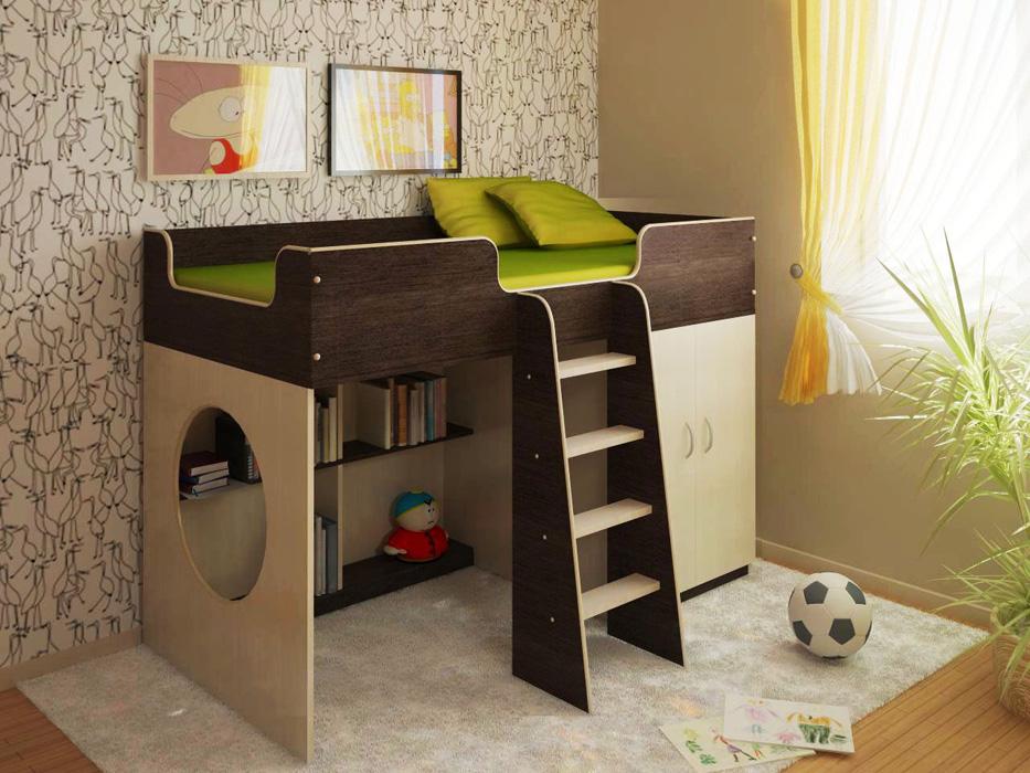 Детская мебель Сказка-2 Black and WhiteДетские комнаты<br>Размер: 1640х840х1120 (сп. м. 800х1600)<br><br>Материалы: ЛДСП, кромка ПВХ<br>Полный размер: 1640х840х1120<br>Спальное место: 800х1600<br>Цвет: По фото: Венге Темный/Дуб Молочный<br>Примечание: Доставляется в разобранном виде<br>Изготовление и доставка: 8-10 дней<br>Условия доставки: Бесплатная по Москве до подъезда<br>Условие оплаты: Оплата наличными при получении товара<br>Подъем на грузовом лифте: 700 руб.<br>Подъем без лифта: 350 руб<br>Сборка: 10% от стоимости изделия<br>Гарантия: 12 месяцев<br>Производство: Россия<br>Производитель: Баронс Групп
