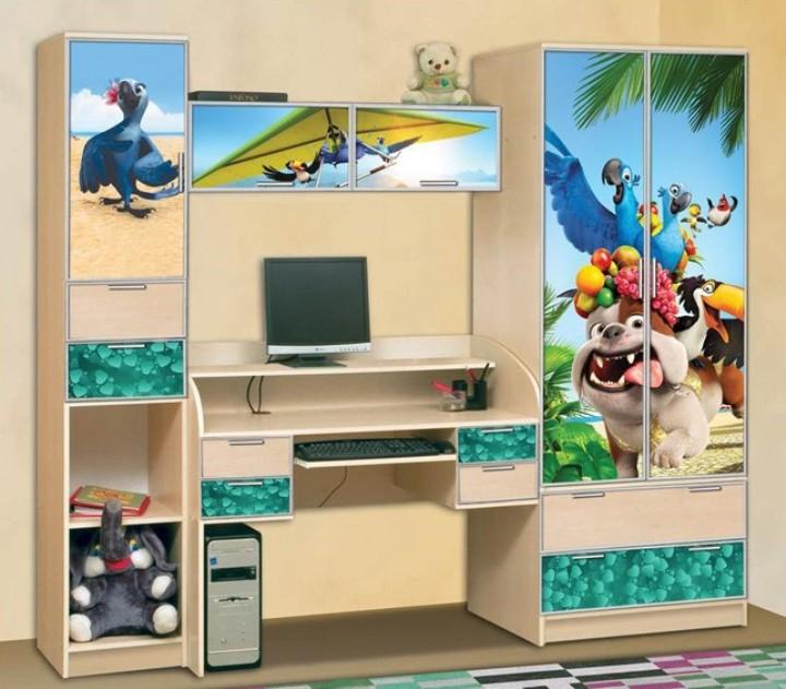 Детская В гостях у сказки-15Детские комнаты<br>Размер: 2400x2200x600<br><br>Материалы: ЛДСП, кромка ПВХ, фасад с фотопечатью<br>Полный размер (ДхВхГ): 2400x2200x600<br>Комплектация: Матрас в стоимость не входит<br>Примечание: Доставляется в разобранном виде<br>Изготовление и доставка: 8-10 дней<br>Условия доставки: Бесплатная по Москве до подъезда<br>Условие оплаты: Оплата наличными при получении товара<br>Доставка по МО (за пределами МКАД): 30 руб./км<br>Доставка в пределах ТТК: Доставка в центр Москвы осуществляется ночью, с 22.00 до 6.00 утра<br>Подъем на грузовом лифте: 700 руб.<br>Подъем без лифта: 350 руб./этаж, включая первый<br>Сборка: 10% от стоимости изделия<br>Гарантия: 12 месяцев<br>Производство: Россия<br>Производитель: Mebelus