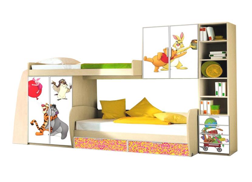 Детская В гостях у сказки-3Детские комнаты<br>Размер: 3500х2000х700<br><br>Материалы: ЛДСП, кромка ПВХ, фасад с фотопечатью<br>Полный размер (ДхВхГ): 3500х2000х700<br>Комплектация: Матрас в стоимость не входит<br>Примечание: Доставляется в разобранном виде<br>Изготовление и доставка: 8-10 дней<br>Условия доставки: Бесплатная по Москве до подъезда<br>Условие оплаты: Оплата наличными при получении товара<br>Доставка по МО (за пределами МКАД): 30 руб./км<br>Доставка в пределах ТТК: Доставка в центр Москвы осуществляется ночью, с 22.00 до 6.00 утра<br>Подъем на грузовом лифте: 700 руб.<br>Подъем без лифта: 350 руб./этаж, включая первый<br>Сборка: 10% от стоимости изделия<br>Гарантия: 12 месяцев<br>Производство: Россия<br>Производитель: Mebelus